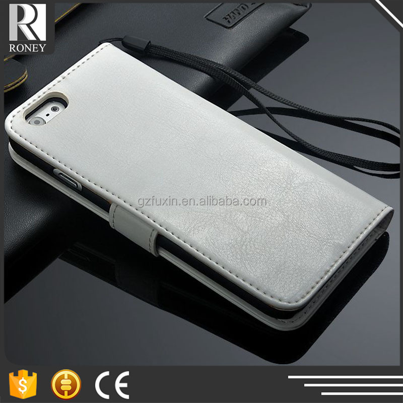 Cheap price card slots wallet pu leather case for iphone 6