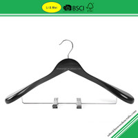 LM9703 High Quality Luxury Black Wooden Cardboard Coat Hanger