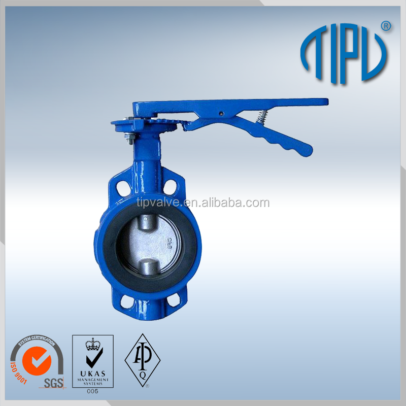 Hand Lever Wafer DN 50 PN 16 Cast Iron Concentric Butterfly Valve For <strong>Water</strong>
