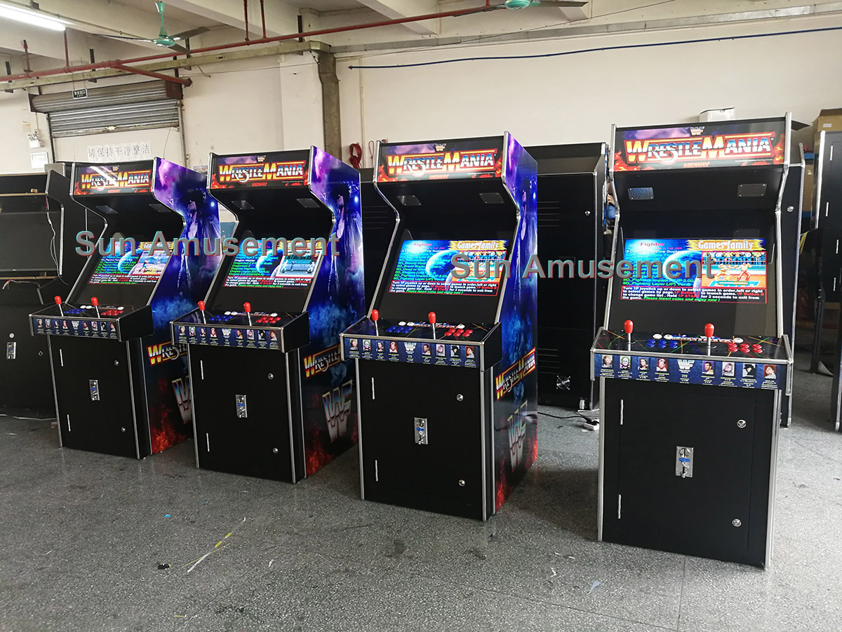 Arcade stand up video machine with 3500 games