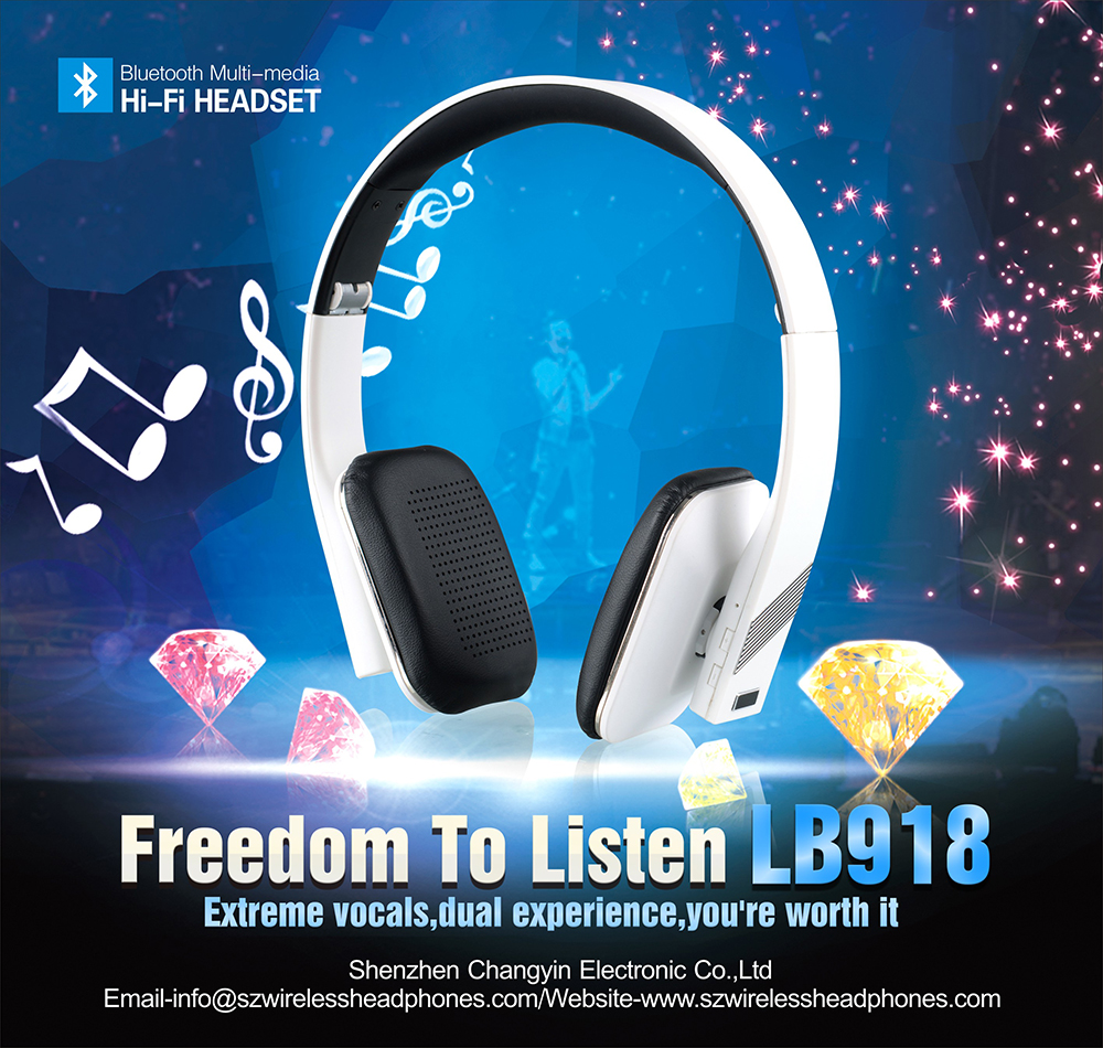 Bluetooth Function and headband Mobile Phone Use Wireless headphone LB918