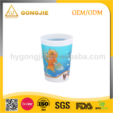 Single Wall Cartoon 3D Lenticular Clear Plastic Straw Cup With Lid