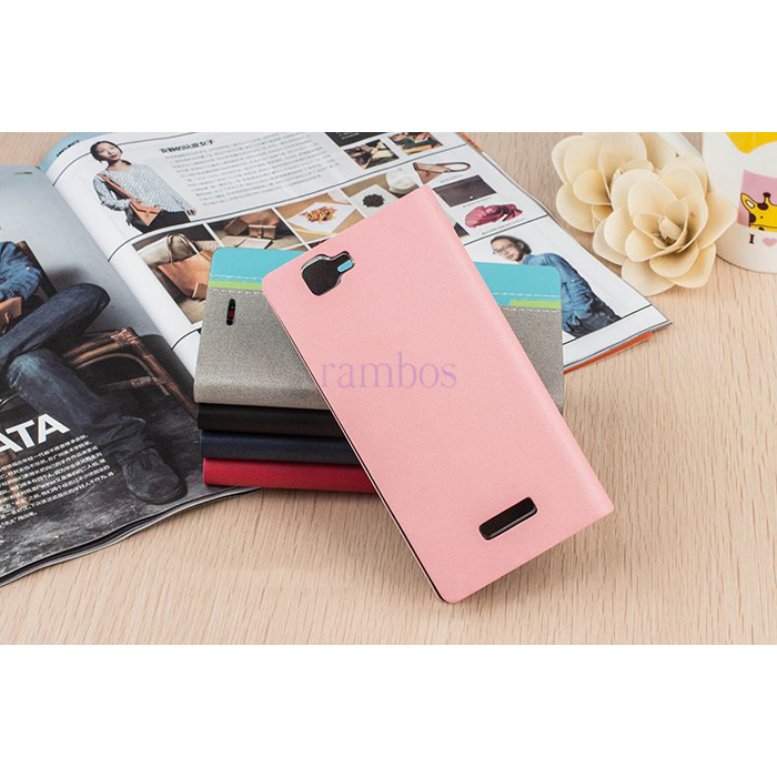 Cell Phone Leather Flip Case Stand Wallet Cover For Nokia C6/ C5