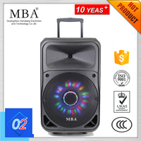 Built-In Battery Trolley Bluetooth Speaker with AM/FM Radio/USB/SD/BT
