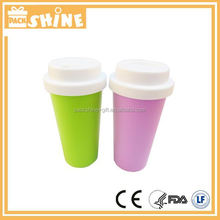 Plastic Wholesale Coffee Cups with hole for Inserting Straw