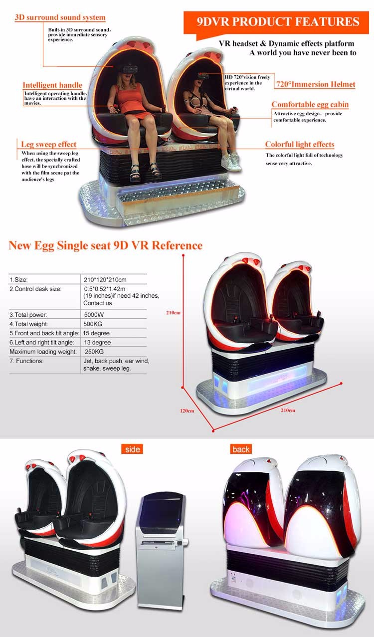 Qingfeng 10-20% discount simulator interesting products 9d cinema china canton fair 9d egg vr plus