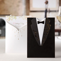 Hight quality double-faced groom and bride laser cut CW2011 Wedding Invitation Cards,wedding invatations card,wedding decoration