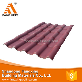 Synthetic resin pvc roof tiles and pvc plastic roof tile made in China