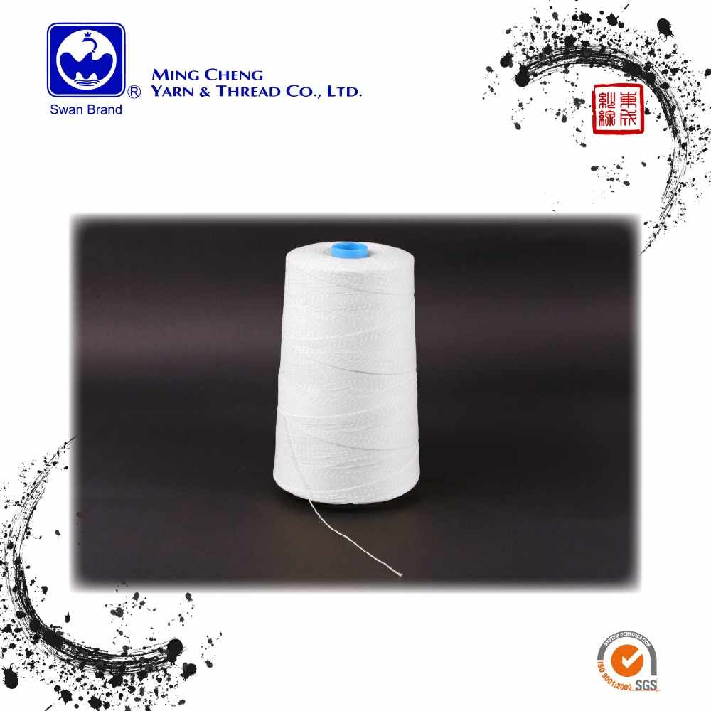 Yarn count 12/6 100 poly rice bag closer threads 100 polyester bag closing sewing thread 100 polyester bag closing