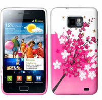 Beatuiful Flowers Pattern Soft TPU Case For Samsung i9100 Galaxy S2 SII Back Cover Skin