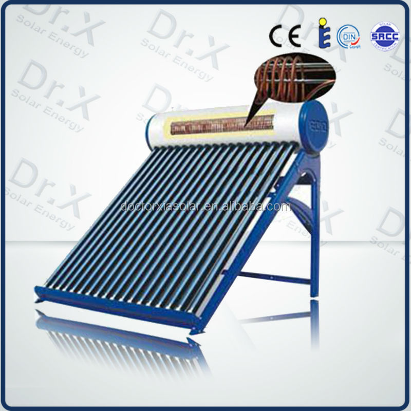 Environmental friendly without air pollution new hot copper coil pre heated solar water heater