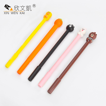 Promotion Animal Cartoon Character Decorative Cute Design Plastic Gel Pen With Black Ink