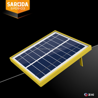 SARODA 5W 9V power cell small glass solar panel portable solar panel with modern design