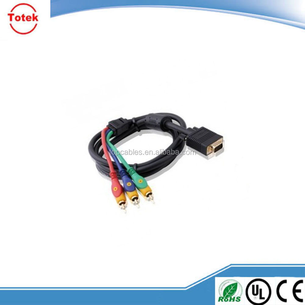 Hot selling rca output to vga input av cable