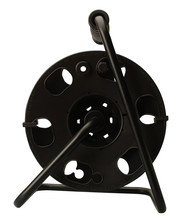 Black Color Cord Reel with Metal Stand Holds up to 150-Feet 16/3 AWG