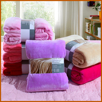 Hot New Customized Coral Fleece Heavy Solid Color Blanket