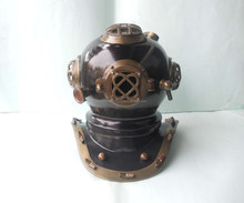 Nautical Black and Antique Finish Steel Metal Mark V Marine 12 inch Decorative Diving Helmet, Item number Sai-1636