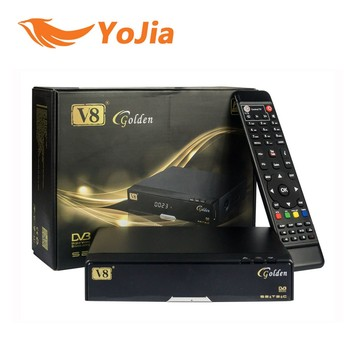 Hot Selling Full HD DVB-S2+T2+C 3 in 1 Combo V8 Golden Digital Satellite Receiver V8 Golden