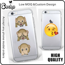 Soft Gel Crystal Clear Transparent Emoji TPU Skin Case for iPhone 6/6s 7 plus Mixed Emotions With Poop