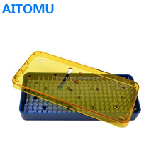 Plastic Sterilization Tray MicroSurgical Instrument Box With Base Lid Mat