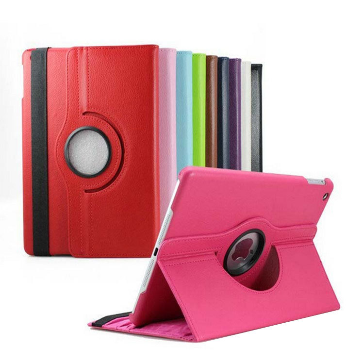 360 degree rotation PU leather case for iPad mini 4