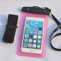 waterproof bags with arm strip for 5-6inch phone, Water-proof Depth: 10M (IPX8)
