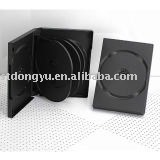 27mm black DVD case for 8 discs