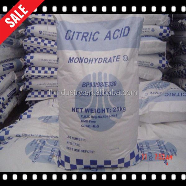 High Quality food additives/ manufacturer /citric acid anhydrous/monohydrate 77-92-9