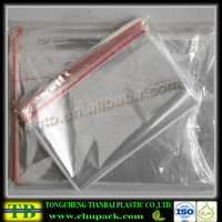 opp plastic packaging bag resealable plastic opp bag