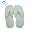 Small quantity custom soft foot slippers terry cloth thong warm house washable mens slippers