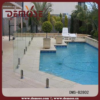 Glass swimming pool railing pool bottom rail outdoor glass railings buy standard railing - Advantage using tempered glass fencing swimming pool balcony deck ...
