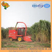 140HP tractor napier grass shredder machine silage harvester