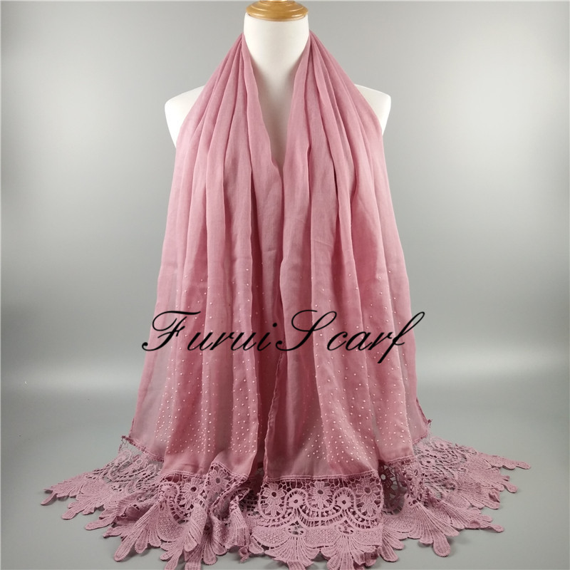 High Quality shimmer diamonds lace scarf luxury women shawls and hijabs islam headband muslim ladies cotton scarves