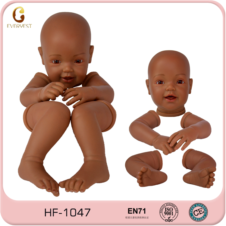 Eco-friendly material african american silicone babeis mini bebe reborn de silicone