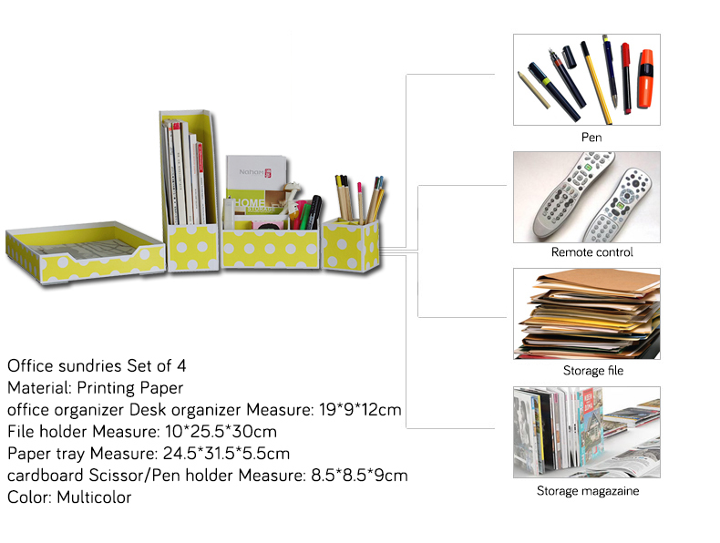 NAHAM Luxury Printing Paper Office Desk Set Stationery Set