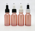 Beauty 20ml small pink liquid glass dropper bottles new for cosmetic serum use