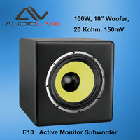 E10 10 inch 100W Active Monitor Subwoofer 20Hz -180Hz subwoofer
