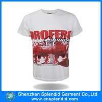 China manufacture white hip hop t-shirt mens fashion blouses