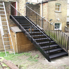 Outdoor Carbon Steel Stair Tread Safety Staircase