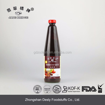 Barbecue sauce high quality 710g bottled