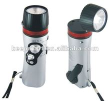 hand crank dynamo flashlight with radio&charger