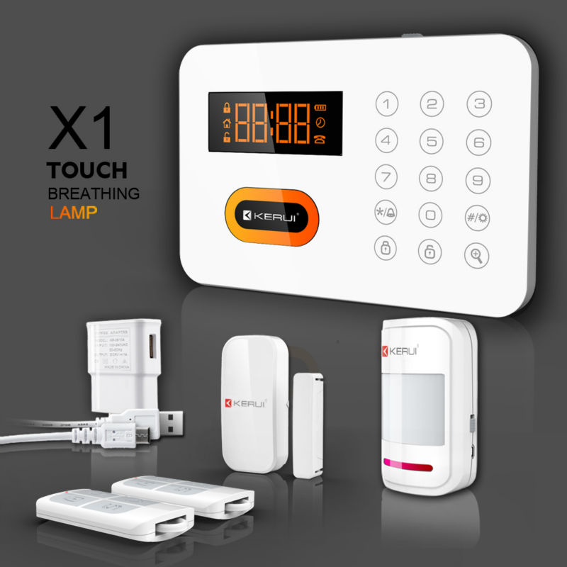 PSTN landline wireless intelligent security alarm system with voice prompt and touch keypad (KR-X1)