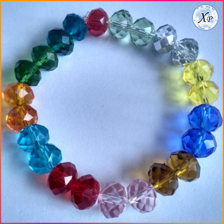 Fashion Hot sale Colourful Glass crystal Bead bracelet friendship Jewelry