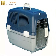 Folding dog pet carrier plastic air conditioned pet cage