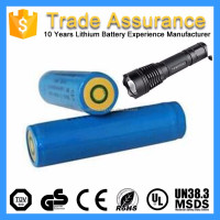 3.7V 2200mAh Rechargeable Flashlight Tactical Light Lithium Ion Battery Cell 18650