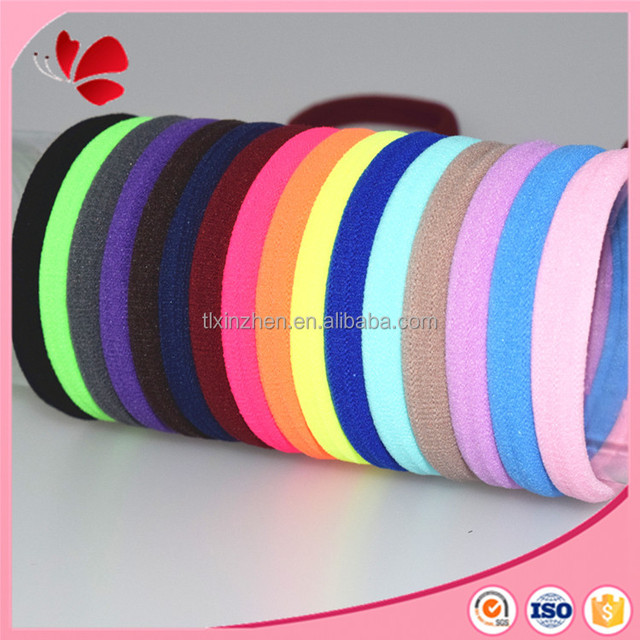 rainbow colorful seamless stretchedable fabric w/ spandex hair band