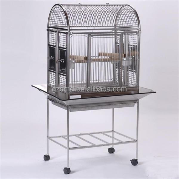 Hot sale folding metal pet cage XXL Stainless Steel Bird Cage