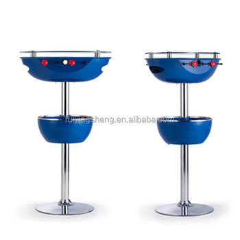 Patented Icy table Portable Bar Table with foosball game and drink cooler