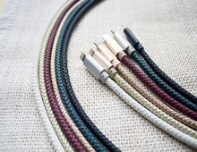 Alibaba best sells 1m 8 pin leather usb cable for Iphone charger cable