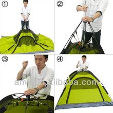 Three person one touch tent,outdoor two layer tent